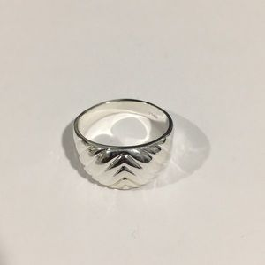 Jewelry - Sterling Silver Women's Wavy Design Wedding Band